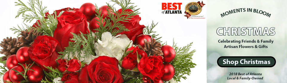 Unique, custom flower arrangements including hydrangea, roses, orchids, plants & gardens, fruit & gift baskets, and holiday gifts with same day delivery in Atlanta, Alpharetta, Buckhead, Duluth, Dunwoody, Kennesaw, Marietta, Roswell, Sandy Springs and Woodstock.