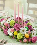 Spring Easter Centerpiece w/ Candles