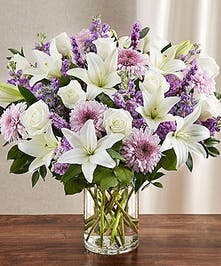 Elegant Vase of Mixed Flowers