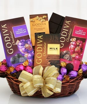 Godiva Sampler Gift Basket, Carithers Flowers, USA Delivery