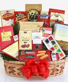 Custom Holiday Gourmet Basket