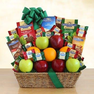 ghirardellil chocolates, gift basket