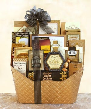 Black Tie VIP Gift Basket, Carithers Flowers, USA Delivery