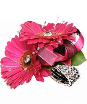 Fashion Pink Gerbera Daisy Corsage