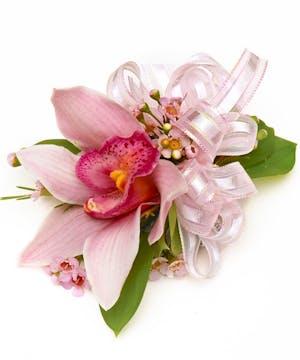 Pink Cymbidium Orchid Wrist Corsage