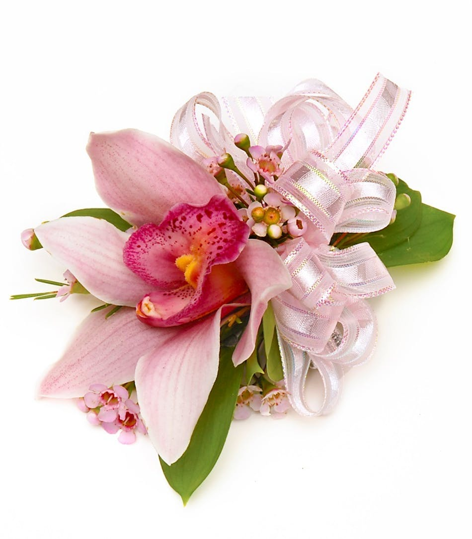 Pink Cymbidium Orchid Wrist Corsage - Carithers Flowers : Voted Best ...
