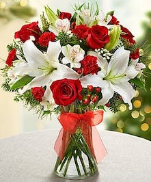 Christmas Flowers, Lilies, Roses, Carithers Flowers Atlanta
