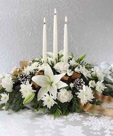 Candlelit Centerpiece, Carithers Flowers Atlanta, Alpharetta, Buckhead, Decatur, Duluth, Marietta, Roswell, Sandy Springs