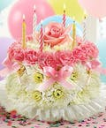 Wishing You a Special Birthday - Floral Cake