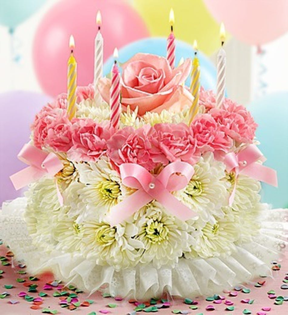 Wishing You A Special Birthday Floral Cake All The Fun Without