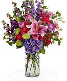 Garden Vase - Pinks & Purples