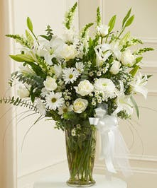 Beautiful White Flowers Featured in a Vase