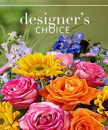 Bright and Cheery Flower Arrangement - Designer's Choice