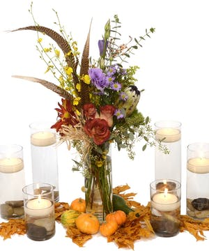Holiday Serving Table Decor