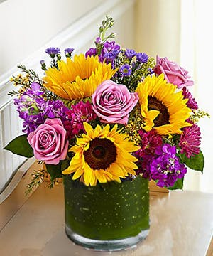 Sunflowers and Roses Flower Arrangement, Carithers Flowers Atlanta