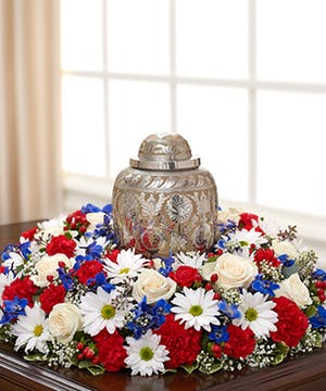 Red, White & Blue Flowers for A Patriotic Tribute