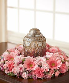 Elegant Table Wreath of Pink Flowers