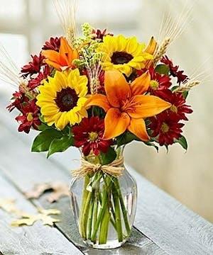 Voted best florist sandy springs ga carithers flowers countryside harvest desktop vase mightylinksfo