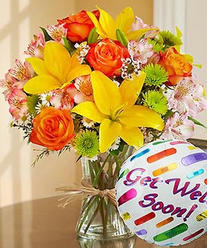 includes a Get Well Soon Mylar Balloon
