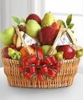 Deluxe Fruit & Cheese Basket