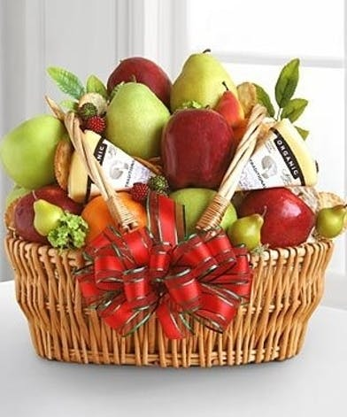 Fruit and Cheese Gift Basket Delivery Atlanta, Carithers Flowers