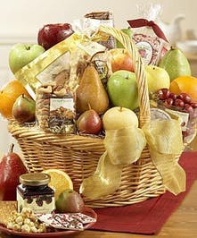 Deluxe Fruit & Gourmet Delight Basket