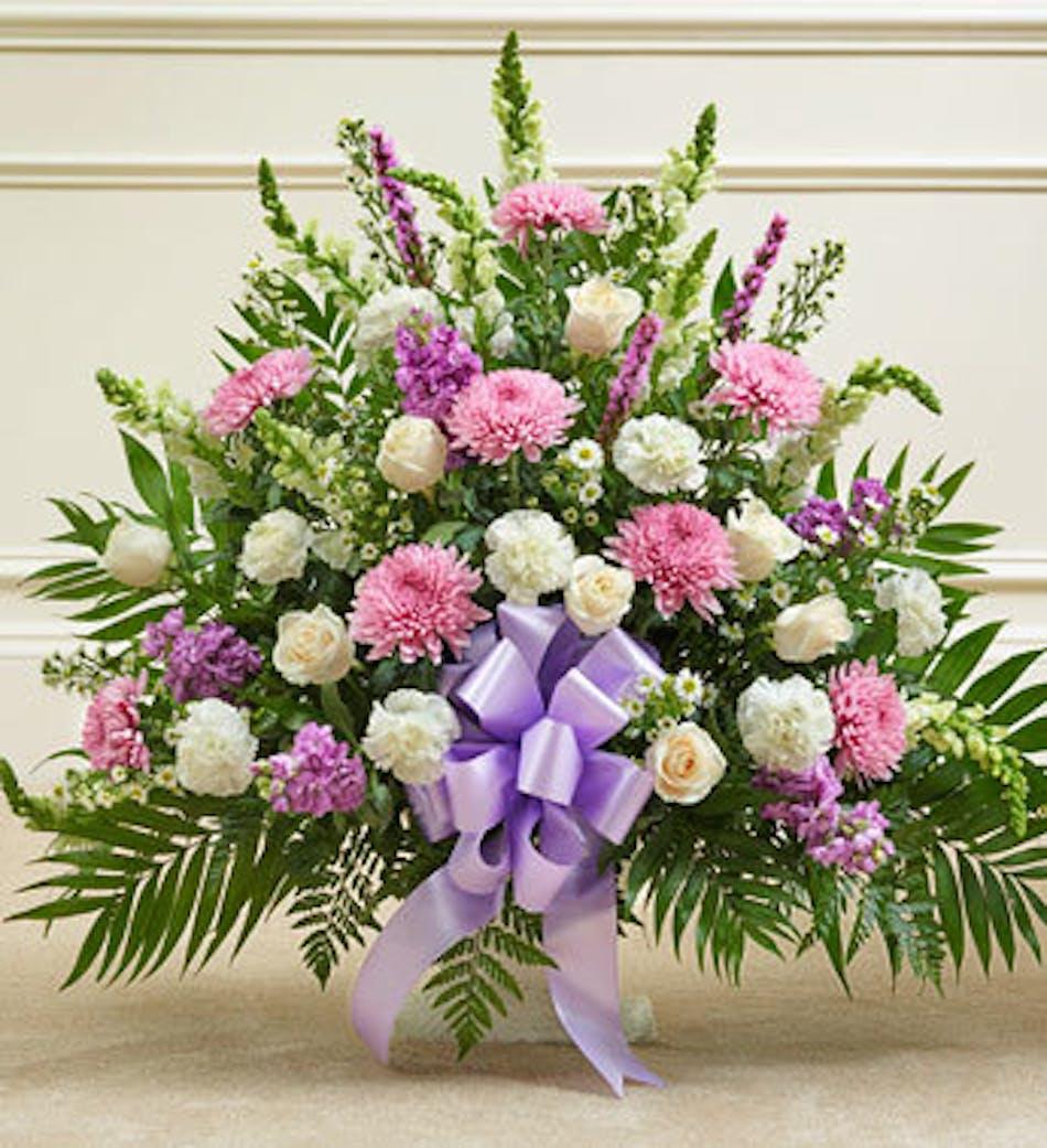 Funeral Basket In Lavender