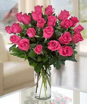 Hot Pink Roses, Florist Delivery Atlanta