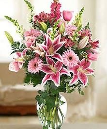Lilies, Roses, Holland Gerbera