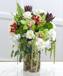 white flowers, hydrangea, white roses, unusual flowers