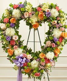 Standing Heart Shaped Wreath