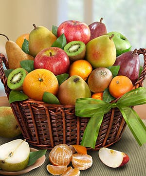 fresh fruit basket, Carithers Flowers Atlanta