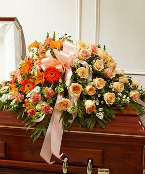 A Mix of Elegant Peach Flowers