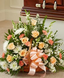 Popular Mix of Peach and White Flowers