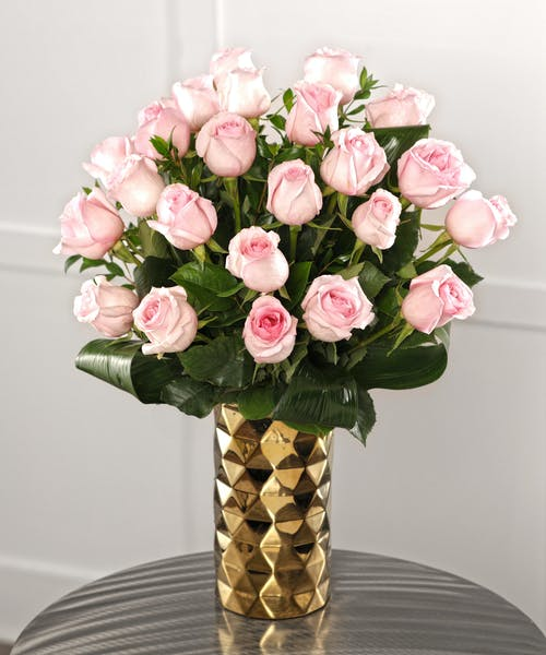 Two Dozen Tiffany Pink Roses