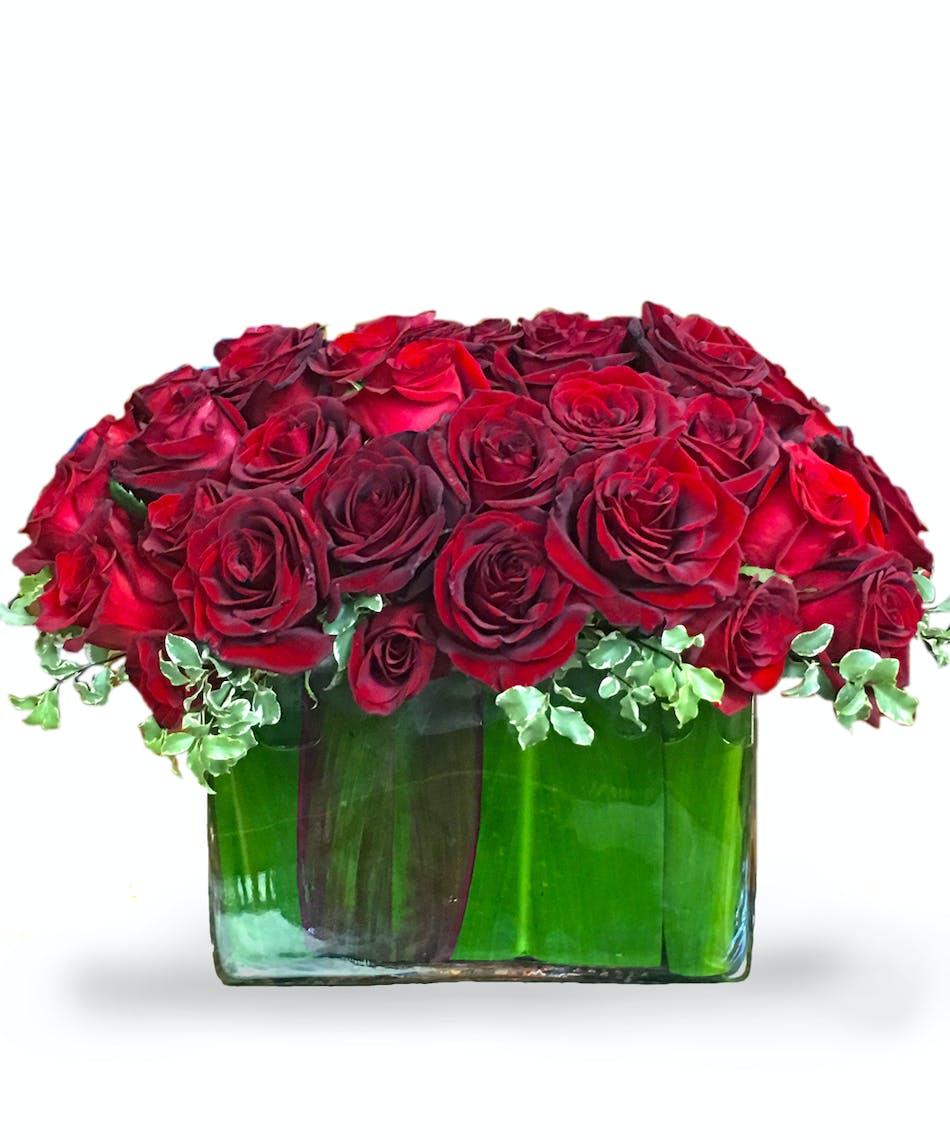 Wild At Heart Arrangement Featuring Ecuadorian Roses From Carithers Atlanta