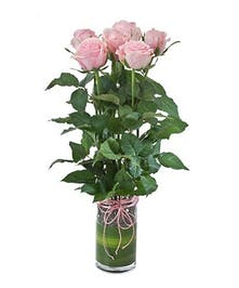 Half Dozen Roses by Carithers Flowers Atlanta, Select Red, Pink or Yellow