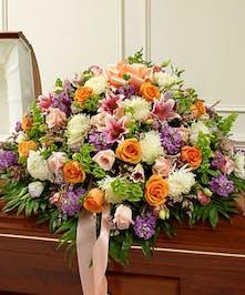 Garden Flowers Create this Elegant Casket Cover