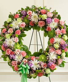 Standing Wreath in Spring Colors