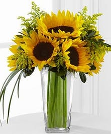 Sunflowers Flower Arrangement, Carithers Flowers Atlanta, Alpharetta, Lawrenceville, Marietta, Roswell