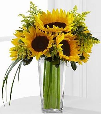 Sunflowers Flower Arrangement, Carithers Flowers Atlanta, Alpharetta, Lawrenceville, Marietta, Roswell