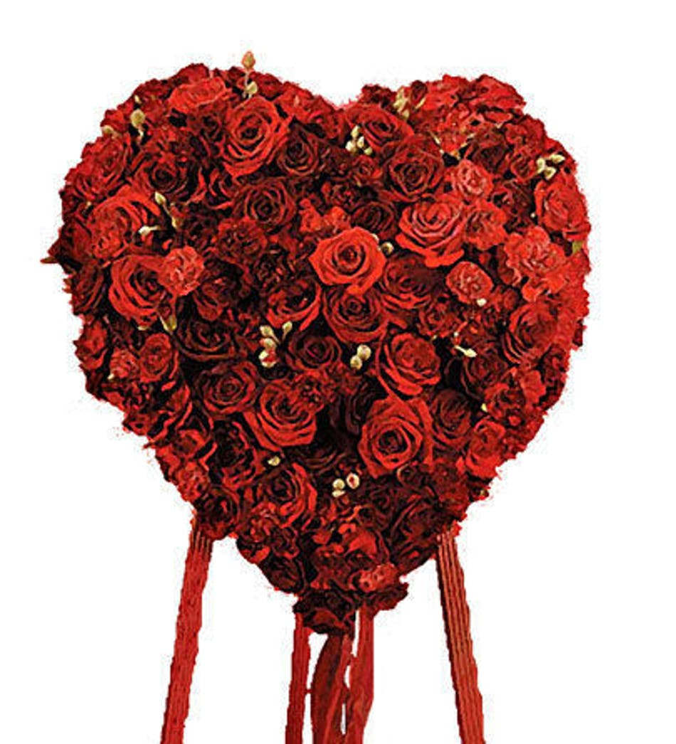 Heart of forever roses a beautiful floral display carithers delivery by 2pm today available order within izmirmasajfo