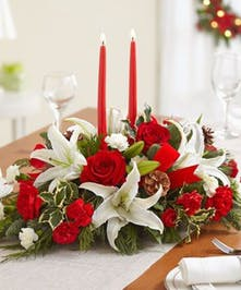 Christmas Flowers, Holiday Centerpieces, Carithers Flowers Atlanta GA