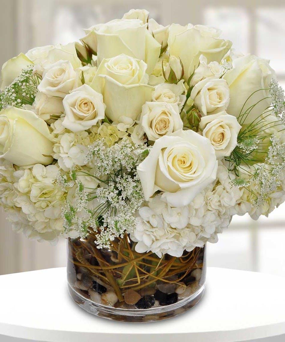 White Flowers Unique Custom Arrangements Carithers Flowers