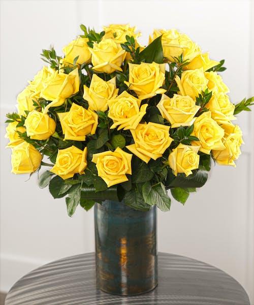 Three dozen Yellow Roses