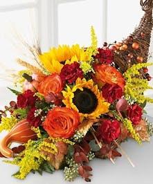 Thanksgiving Cornicopia Centerpiece, Carithers Flowers Atlanta