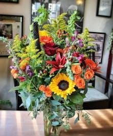 Fall Buffet Flower Arrangement by Carithers Flowers