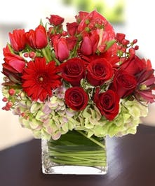 Romantic Fresh Flowers, Hydrangea, Roses, Tulips, Carithers Flowers Atlanta