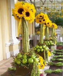 Sunflower Buffet Topiary