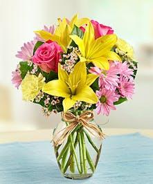 Spring Desktop Floral Bunch Vase